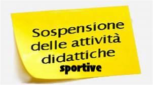 Sospensione attività sportive tensostruttura